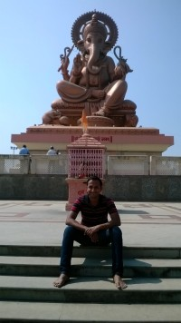At Lord Ganesh Statue